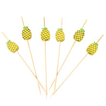 200 Pcs 12cm Cocktail Picks Kreative Handgemachte Ananas Perlen Vorspeise Picks Obst Zahnstocher Bar Partei Liefert(China)