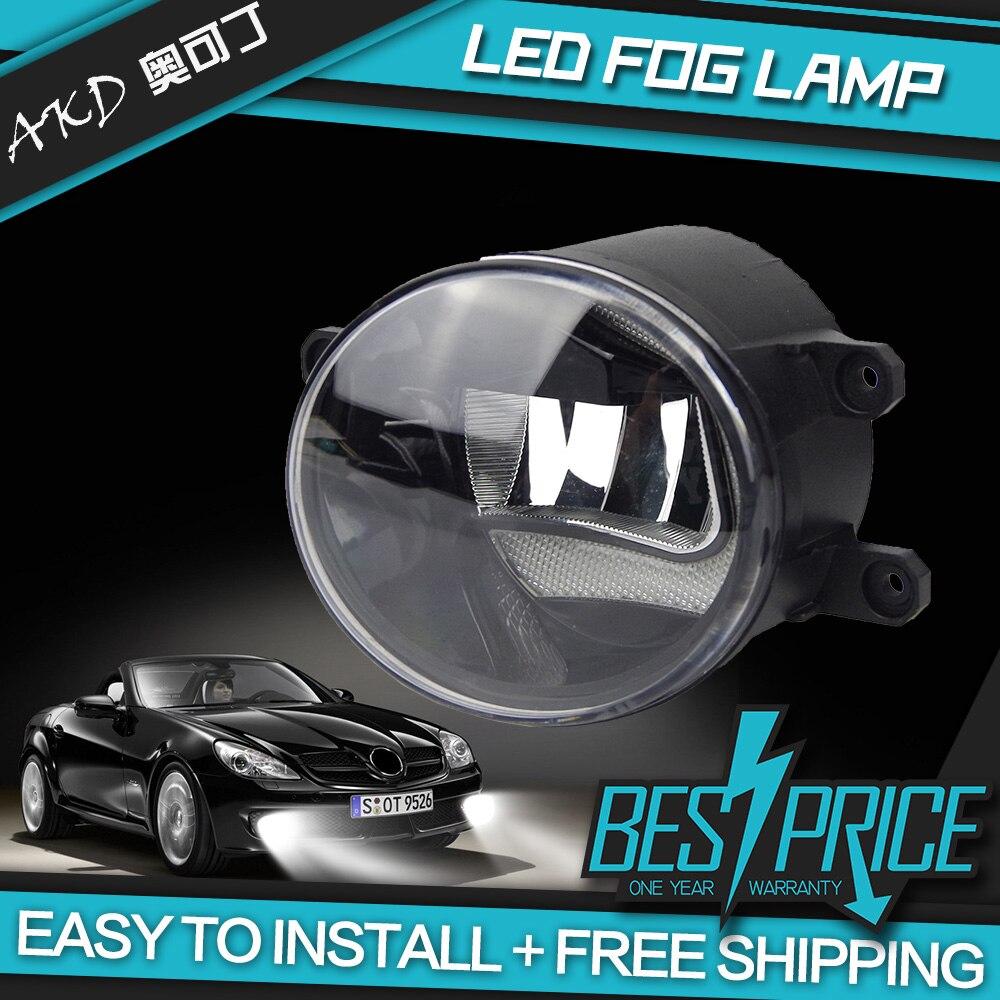 Akd car styling for toyota tacoma led fog lamp fog light guide shape c drl daytime