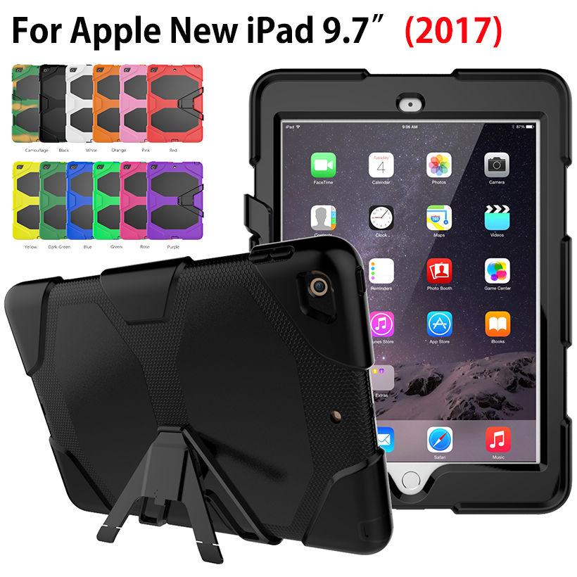 Armor Kickstand Case Funda For Apple New iPad 9 7 2017 Case Cover Tablet Safe Shockproof