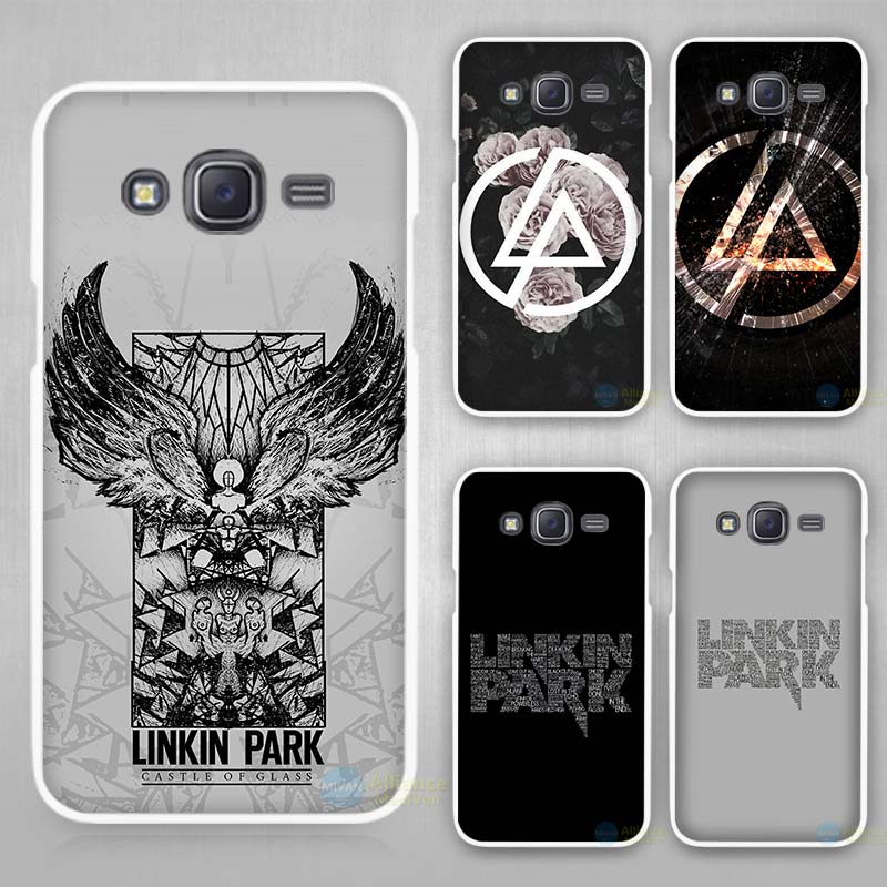 linkin park Hard White Plastic Case Cover for Samsung Galaxy J1 J2 J3 J5 J7 C5 C7 E5 E7 2016 2017 Emerge