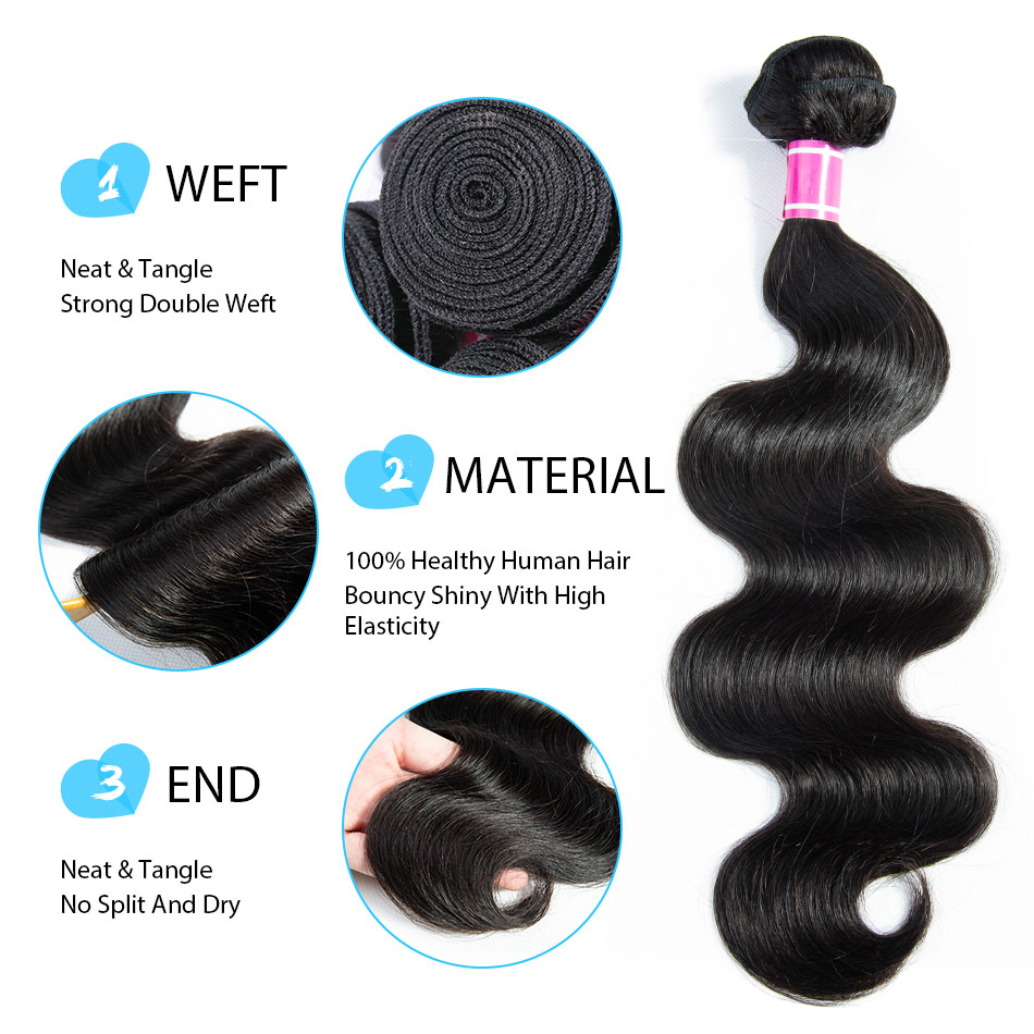 Image 4 - Body Wave Bundles With Closure  Brazilian Hair Weave Bundles With Closure Human Hair 3 Bundles With Closure Remy TTHAIR-in 3/4 Bundles with Closure from Hair Extensions & Wigs