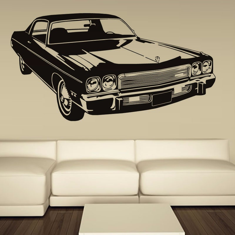 retro car sticker old ford mustang decal wall art vinyl decor school