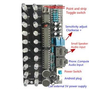 Image 5 - GHXAMP LM3915 デュアルチャンネル 10 オーディオレベル表示キット MP3 PC 電話スピーカー音楽スペクトル音声起動