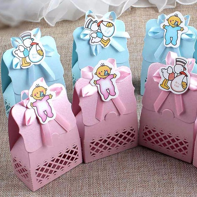 Ourwarm 36pcs Paper Baby Shower Candy Boxes Party Gift Cute Boy Girl