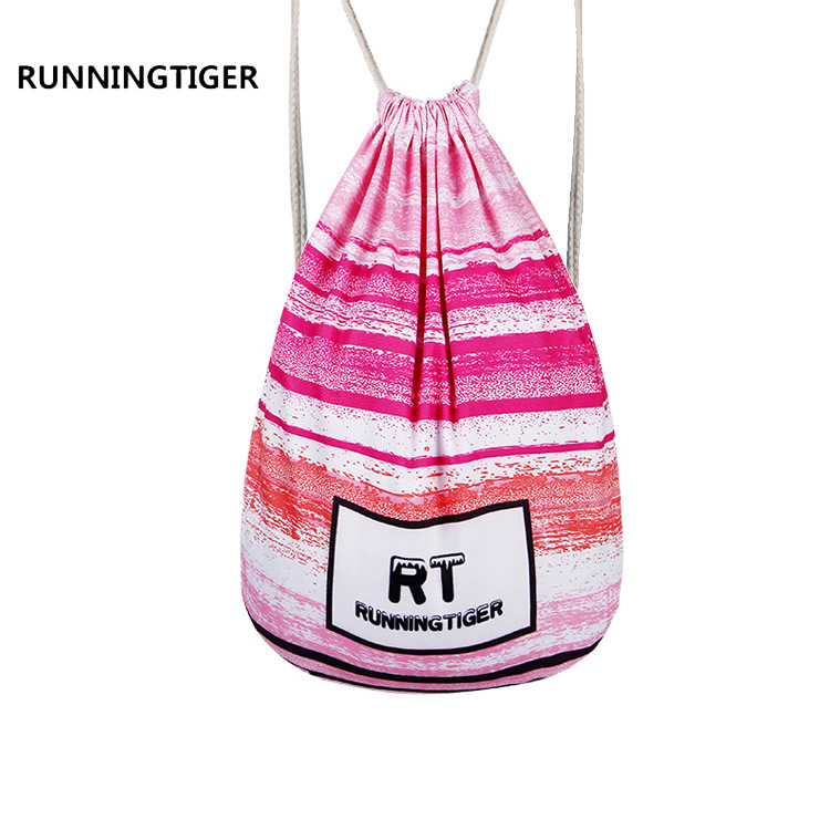 Summer Large Capacity Drawstring Bag Printing Teenager Schoolbag Travel Shopping Bag Football&Basketball Bag Weekend Beach Bag