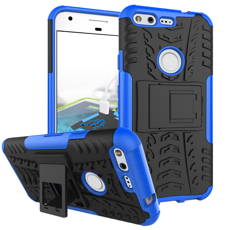 2In1 TPU + PC Heavy Duty Protective Armor Back Cover For Google Pixel Anti-Knock Case Cover For Case Google Pixel Coque≪