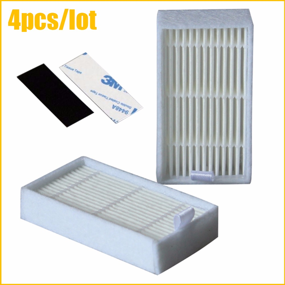 4pcs Vacuum Cleaner Filters HEPA Filter for ECOVACS CR130 cr120 CEN540 CHUWI V3 iLife X5 V5 V3+ V5PRO CEN250 ML009 Cleaner Parts