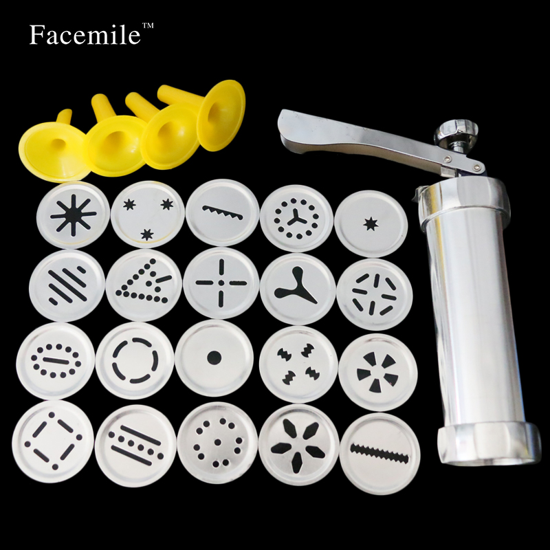 Cake Decorating Gun By Wilton : Aliexpress.com : Buy 24pcs Cookie Press Set Biscuit Maker ...
