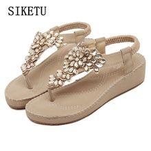 Siketu Новые Модные женские летние босоножки милые босоножки для школьников удобные повседневные женские сандалии мягкие класса больших размеров женская обувь