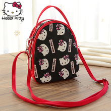 Hello Kitty Cute Cartoon Hand Bag 2019 New Women Single Shoulder High Quality Canvas Girl Schoolbag Plush Backpack