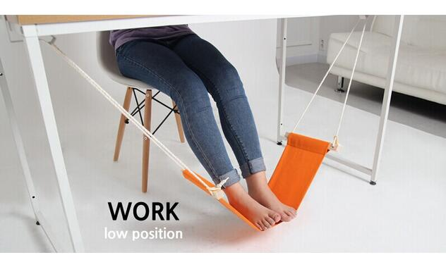 2 pcs/lot petit hamac pour soulager la fatigue des pieds pour se détendre outils de bureau grand lit suspendu comme produits ménagers hamac