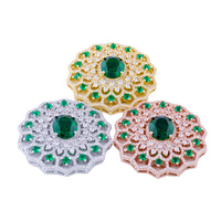 38 38mm Copper Jewelry Gift Micro Pave AAA Zircon CZ Round Spacer Connector For Fashion Bracelet