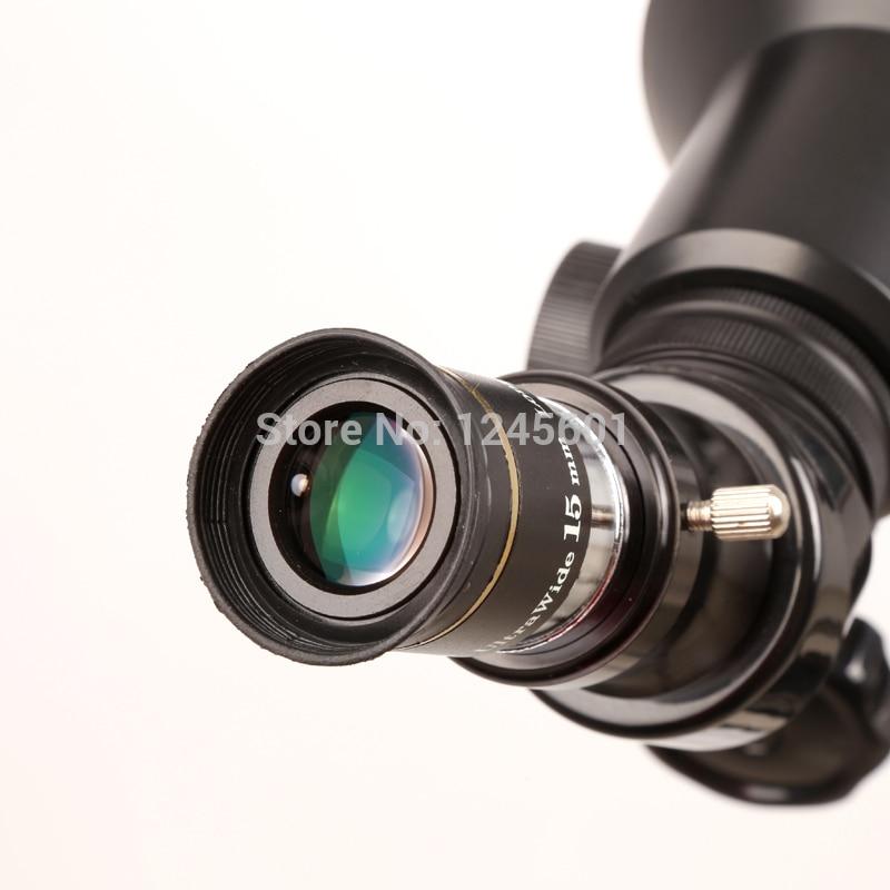 The telescope fully Multi Coated 66 degree ultra wide 15mm eyepiece lens  цены