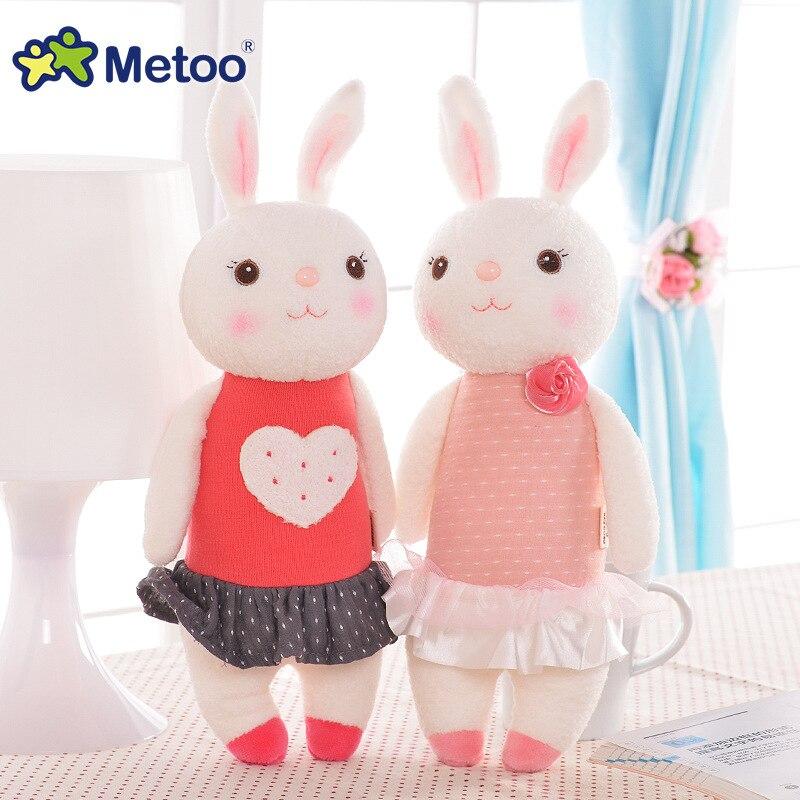 Peluche dolce bello sveglio farcito capretti del bambino toys per le ragazze di compleanno regalo di natale 11 pollice tiramitu conigli mini metoo bambola