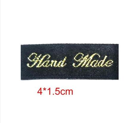 free shipping woven labels Made in Italy for Clothing bags shoes hand made fabric labels for sewing tags 100pcs/lot