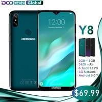 DOOGEE Y8 Smartphone MTK6739 3GB RAM 16GB ROM Android 9.0 FDD LTE 6.1inch 19:9 Waterdrop LTPS Screen 3400mAh Dual SIM 8.0MP