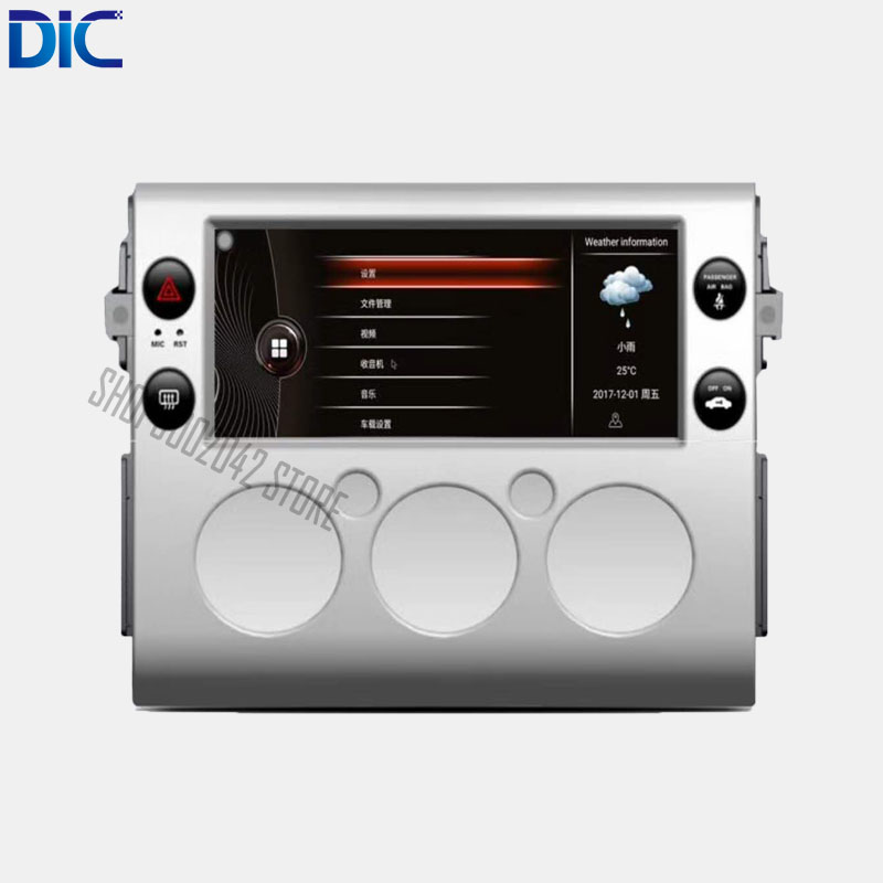DLC Android system 10.25 inch Navigation player Video autoradio Steering Wheel bluetooth USB For Toyota 2007 2017 FJ Cruiser