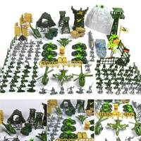 New Arrival 150 Pcs Set Military Plastic Toy Soldier Army Men Figures Accessories Playset Kit Gift