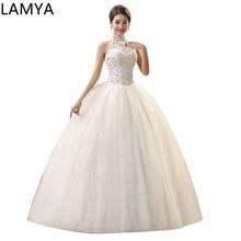 Vestido de baile de tul de princesa Vintage barato chino brillante decoración de boda vestido de novia perlas vestido de boda