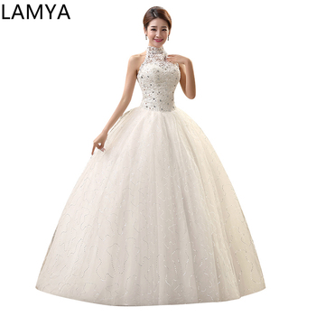 Vintage Princess Tulle Ball Gown Cheap Chinese  Shining Wedding Decoration wedding dress pearl beads