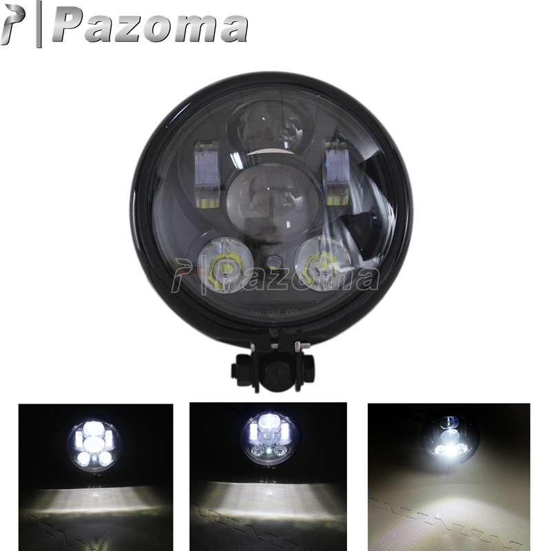 Pazoma HOT 5.75 5 3/4 LED Headlight Daymaker Black Projector DRL For Harley Davidson new arrival