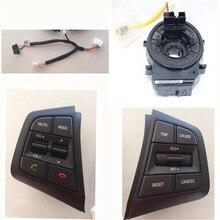 Для Hyundai ix25 Кнопки Bluetooth Телефон Круиз-Контроль Объем канала Дистанционного Кнопки Управления Руль часовая пружина lzh