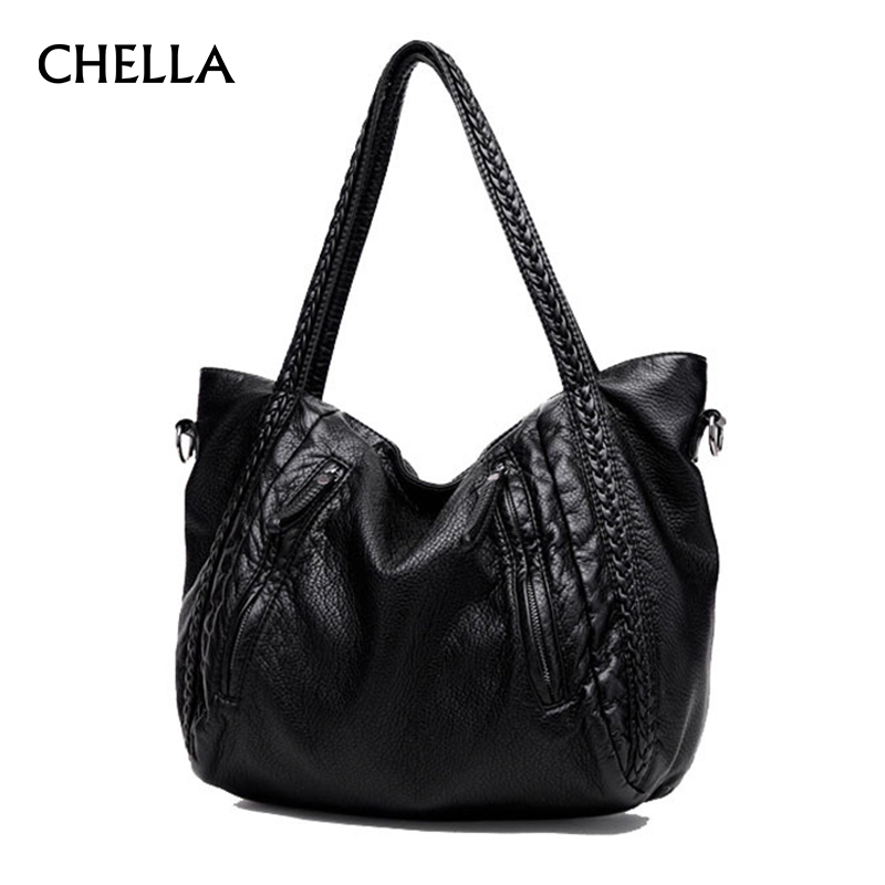 Women Handbag PU Leather Large Soft Luxury Handbags Women Bags Designer Big Ladies Crossbody Shoulder Bag Tote Sac A Main SS0310 2018 floral luxury handbags women bag designer pu leather bag women messenger bags small chain crossbody shoulder bag sac a main