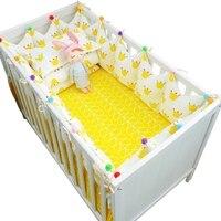 7 шт./компл. Горячая корона дизайн детская кроватка Набор Kawaii толстые бамперы для детской кроватки вокруг включает кровать бампер лист одеял