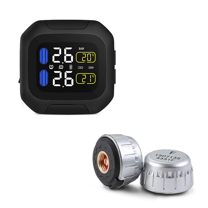 Universal Motorcycle Tire Pressure Monitoring System Super Waterproof Sun Protection Tpms System M3 Real time Display TPMS