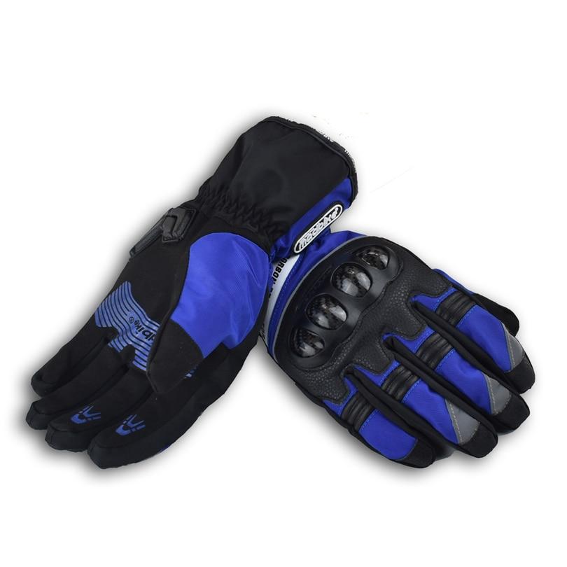Madbike חורף הגנה פחמן אופנוע כפפות waterproof luva motocicleta אופנוע מוטוקרוס כפפות guantes moto racing XL