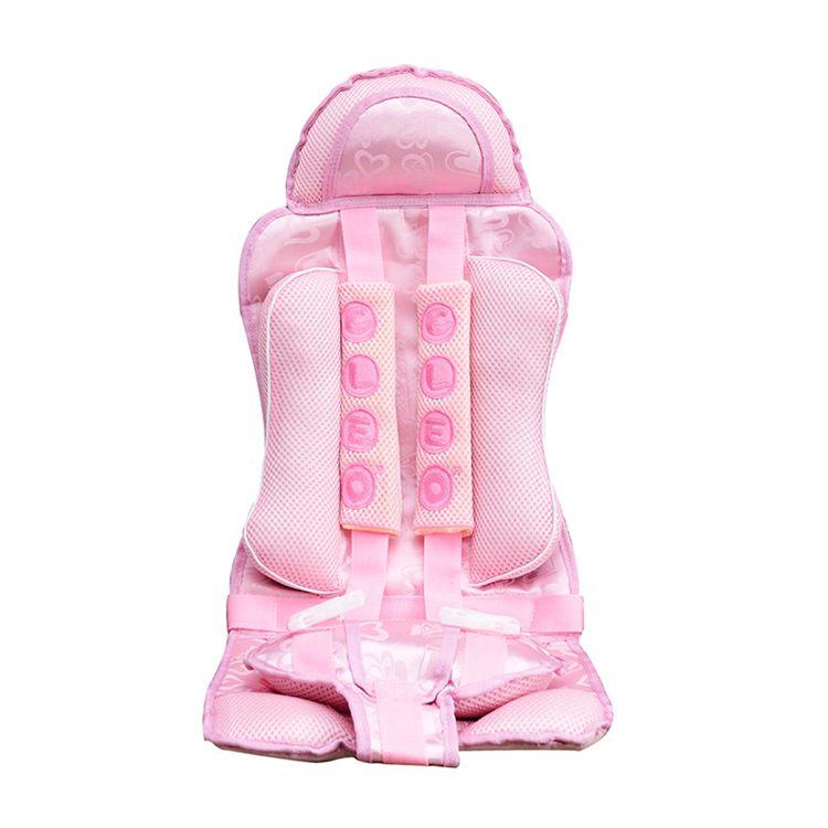 Hot Sale Supply Portable Car Child Seat 4-8 Year Old Child Safety Seat Pink Blue Vioet