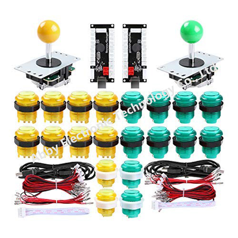 2 Player led Arcade Buttons and joysticks DIY kit 2X joysticks + 20xArcade Buttons Game Controller kit for MAME and Raspberry Pi2 Player led Arcade Buttons and joysticks DIY kit 2X joysticks + 20xArcade Buttons Game Controller kit for MAME and Raspberry Pi