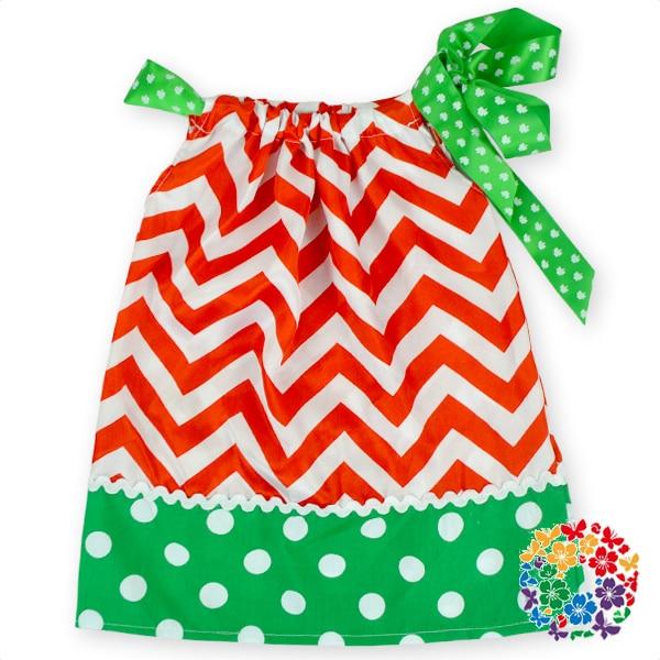 d5c394b010a5 Latest Flower Girl Dress Designs Chevron Red White Green Dress Girls ...