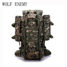 Фотография 80L Outdoor Military Tactical Camouflage Bag Large Capacity Men Women Camping Hiking Mountaineering Waterproof Travel Backpack