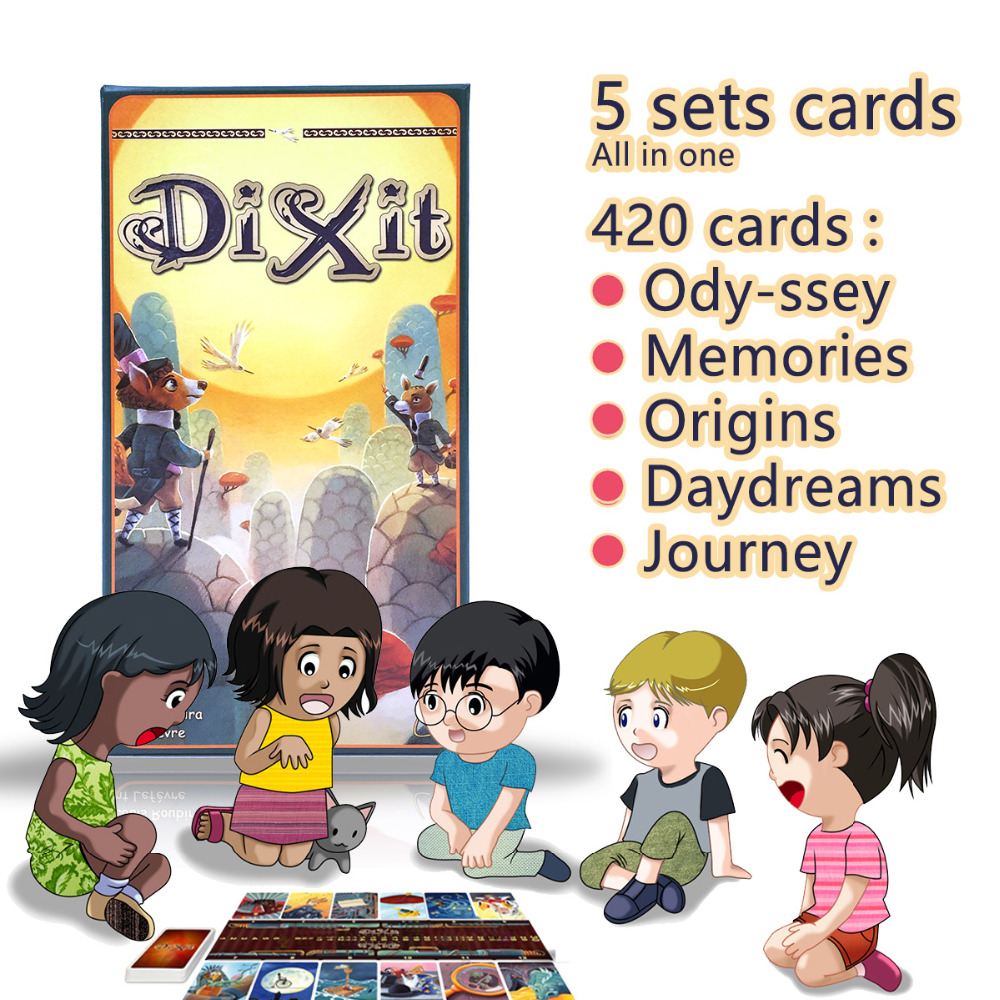 Dixit English font b board b font game gather 420 cards odassey origins journey daydreams memories