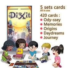 Диксит английский настольная игра собрать 420 карт odassey/Ста/Путешествие/мечты/воспоминания Подарочная коробка Jogo Диксит игрушки, MTG магия