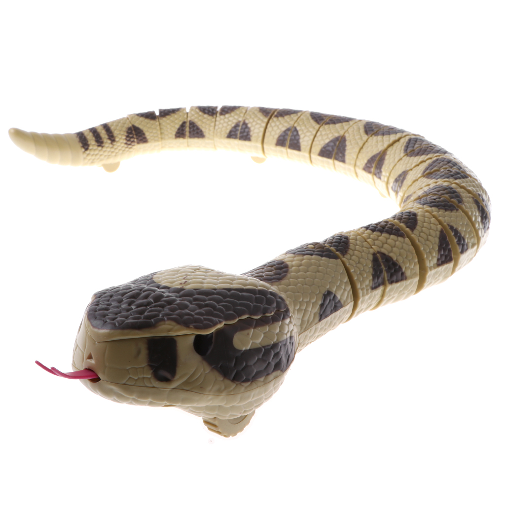74cm Infrared RC Remote Control Moving Rattlesnake Animal Prank Trick Scary Toy