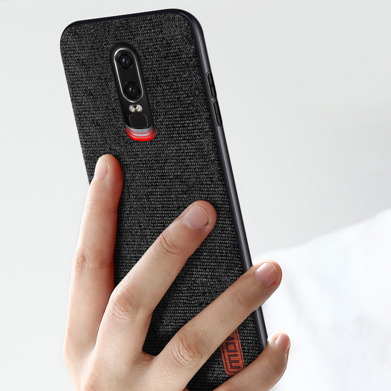 wholesale dealer 840fd 499a7 Details about OnePlus 6 Stylish Case Fabric hard protective business Cloth  Phone One + Cover