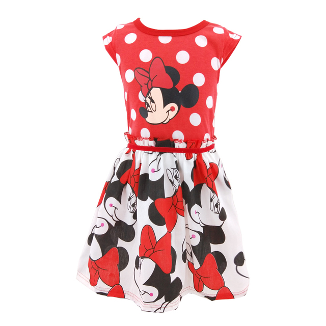 386ce97a11f Cuikevin Baby Girls Summer Minnie Dress Girl's Cute Sundress Kids Cotton  Minnie Mouse Sleeveless Casual Dresses 2018 New Arrival-in Dresses from ...