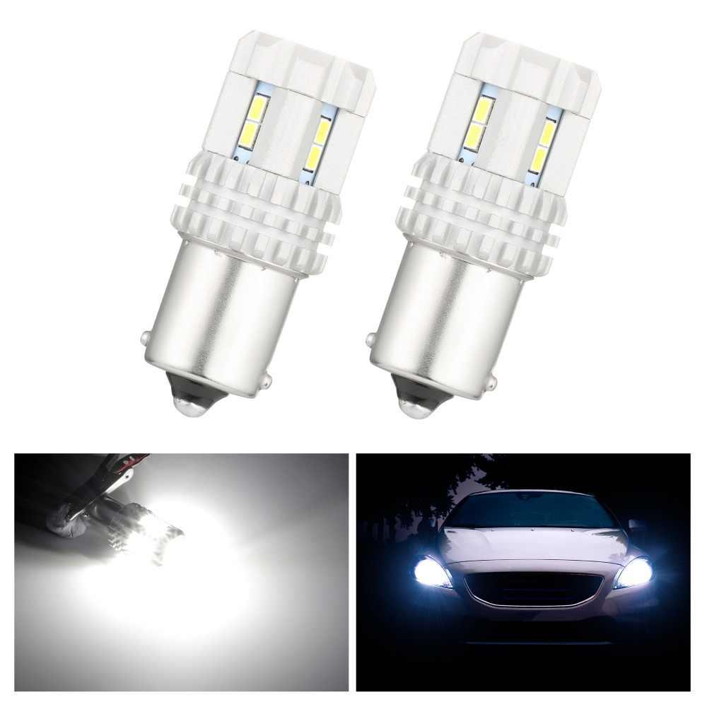 2 piezas luz de estacionamiento para Volkswagen MK6 para Jetta 1300 lúmenes LED bombilla HID blanco 1156 de 7506 S25 12smd día luces