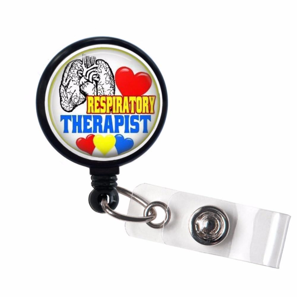 Respiratory Therapist Retractable Badge Holder, Id Badge Reel, ID Badge Holders 10pcs/lot