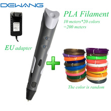 DEWANG Plastic 3d Handle Pen for Christmas Birthday Gifts with 1.75mm PLA Filament Samrt 3 d Drawing Pens Printing Stylo