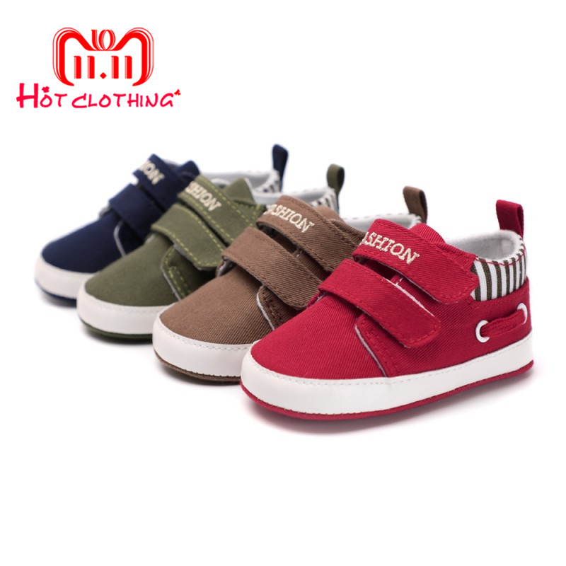 Classic Casual Baby Shoes Toddler Newborn Striped Canvas Baby Boy Shoes Leisure First Walkers Baby Girls Shoes