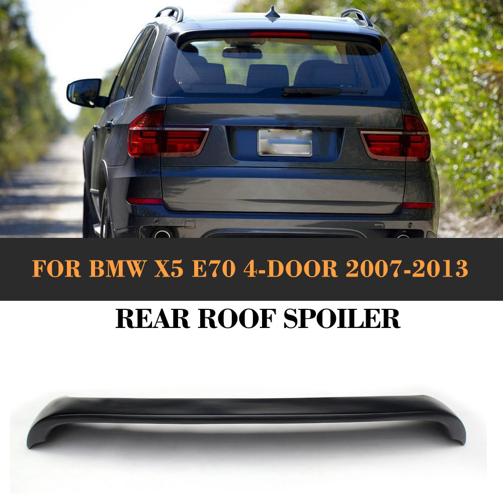 Carbon Fiber Car Rear Roof Window Spoiler Lip Wing for BMW X5 E70 4 Door 2007 - 2013 Car Styling HM style FRP car accessories frp fiber glass vortex generator fit for 2002 2007 suabru impreza wrx sti 7th 9th gda gdb roof spoiler wing