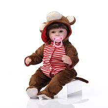 brinquedos 45センチシリコーン生まれ変わった赤ちゃん人形手作りリアルな新生児ベベ人形服赤ちゃん女の子ギフトbonecas