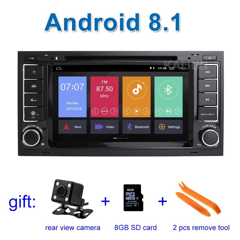 Android 8.1 Voiture DVD Lecteur Stéréo pour Volkswagen VW Touareg T5 Multivan Transporteur avec Radio WiFi BT GPS