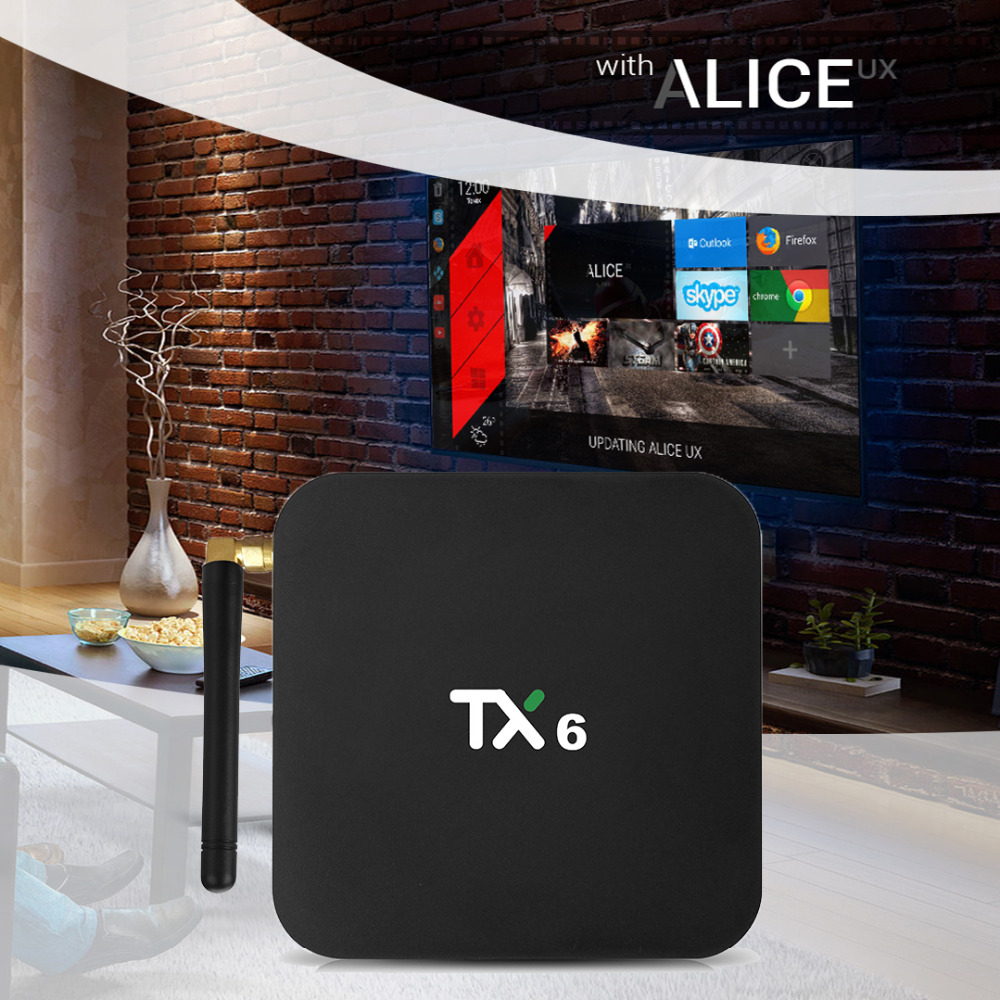 US $33 99  TX6 Smart TV BOX Android 7 1 4G 32G Allwinner H6 Quad core  2 4G+5G Dual Wifi BT4 1 Set Top Box 4K HD H 265 Media Player pk x96-in  Set-top