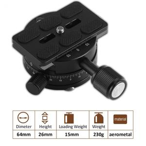 Image 3 - LBKAFA X64 360 Degree Panoramaic Ball Head Panorama Clamp Quick Release With QR Plate For Camera Tripod For Nikon Canon Sony