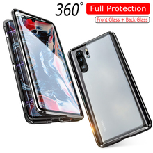Luxury 360 Full Protection Phone Case For Huawei P30 Pro Cover Magnetic P 30 Metal Bumper Double-sided