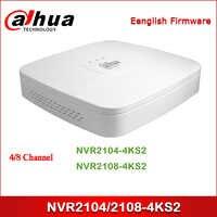 Dahua NVR NVR2104-4KS2 NVR2108-4KS2 4/8 Kanal Smart 1U Lite 4K H.265 Netzwerk Video Recorder